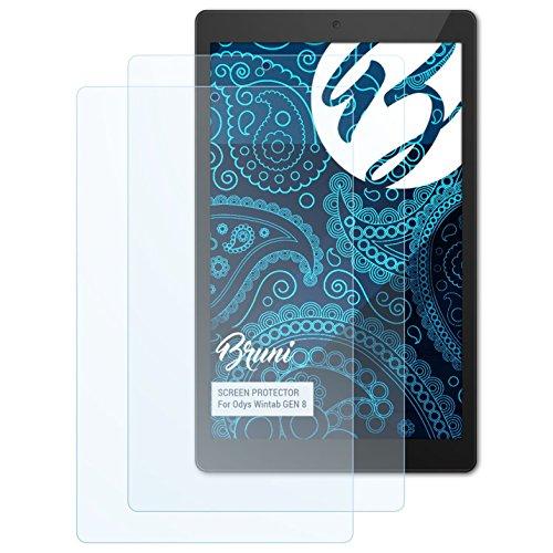 Bruni Schutzfolie für Odys Wintab GEN 8 Folie, glasklare Bildschirmschutzfolie (2X)