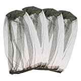 Contever 4 Stück Mosquito Head Net, Moskito-Maske, Insektenschutz für Outdoor Wandern Camping, Klettern, Angeln, Radfahren, Imkerei - Grün