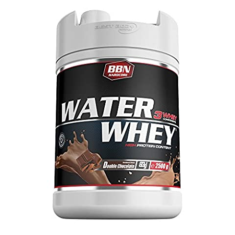 BBN Hardcore Water Whey Protein Double Chocolate, 1er Pack (1 x 2.5 kg) (Hardcore Protein)