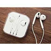 Iphone compatible 3.5 MM Stereo Earphone handsfree for Android/iOS Phones (White)