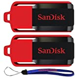 SanDisk Cruzer Switch 32 GB (5 Pack) USB Flash Drive SDCZ52-032G-B35-5PK w/ (2) Everything But Stromboli (TM) Lanyard