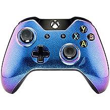 eXtremeRate Schutzhülle Case Obere Hülle Cover Oberschale Skin Schale Gehäuse für Xbox One Standard Controller mit Oder Ohne 3,5mm Anschluss (Lila-Blau)