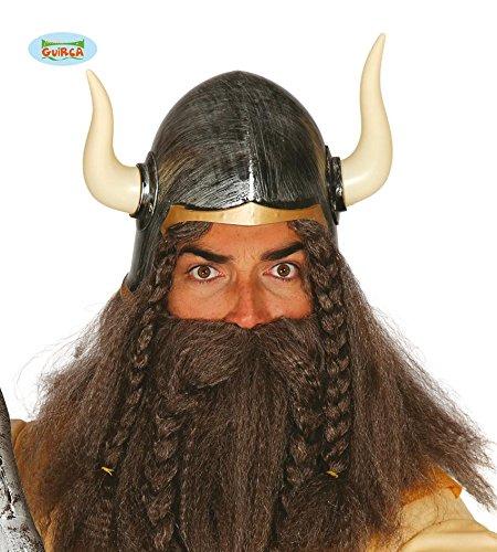 HELM - WIKINGER - 59 cm, Barbaren Seefahrer Entdecker Nordmänner Jungesellenabschied (Entdecker Kostüm Zubehör)