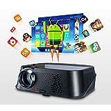 LMtt Heimprojektor, Smart Projektor 3500ANSI HD-Schnittstelle, USB, TF-Karte, AV-Video, für Mobiltelefone, Tablets, Computer-TV-Boxen, Spielkonsolen, etc.