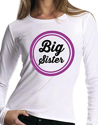 """t-shirt manica lunga Fratello e sorella humor """" big sister"""" - S M L XL XXL uomo donna bambino maglietta by tshirteria"""