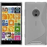Funda de silicona para Nokia Lumia 830 - S-Style transparente - Cover PhoneNatic Cubierta + protector de pantalla