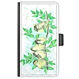 Hairyworm Song Birds Leather Side Flip Wallet Phone Case,