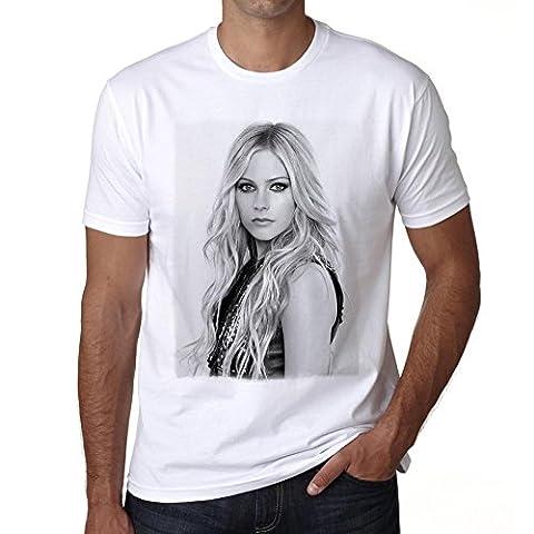 Avril Lavigne T-shirt,cadeau,Homme,Blanc, S,t shirt