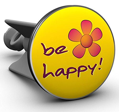 Plopp Waschbeckenstöpsel be happy gelb, Stöpsel, Excenter Stopfen, für Waschbecken, Waschtisch, Abfluss (Waschbecken Gelb)