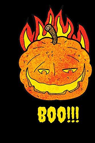 mpkin cartoon On Fire Themed Notebook ()