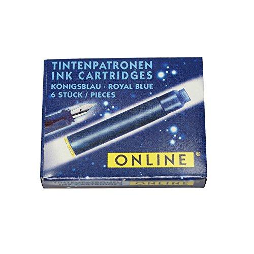 Online 17012/48 - Tintenpatronen für Füllhalter, 6 Stück, königsblau