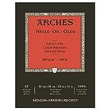 Arches Huile Papier à dessin 12 feuilles 300g Grain fin 31 x 41 cm 12 feuilles Blanc naturel