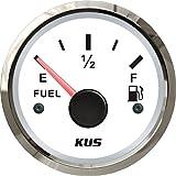 Kus Fuel Level Gauge Meter 0–190ohm Signal 52mm 12V/24V