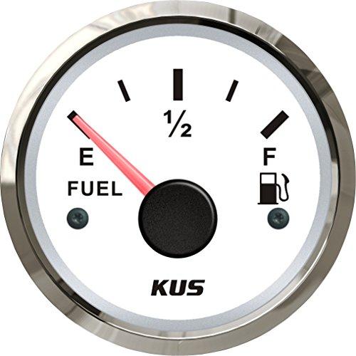 Preisvergleich Produktbild Kus Heizöl Level Gauge Meter Anzeige 240–33OHM mit Hintergrundbeleuchtung 12V/24V 52mm (5,1cm)