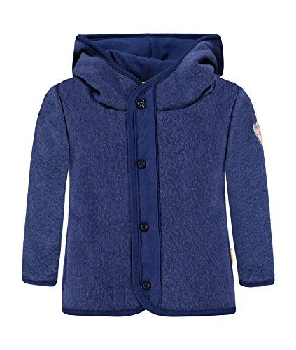 Steiff Jungen Sweatjacke 1/1 Arm Fleece Sweatshirt, Blau (Blue Depths 3122), 50 Fleece-armee Pullover