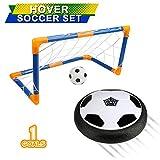 BelleStyle Air Hover Calcio, Aria Power Soccer con Calcio Obiettivo Colore LED Illuminazione Bambini Schiuma Paraurti Calcio Giocattoli per Interni ed Esterni