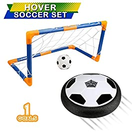 BelleStyle Pallone Calcio Fluttuante,Aria Hover Calcio da Interno con Luci LED Hover Soccer Ball per