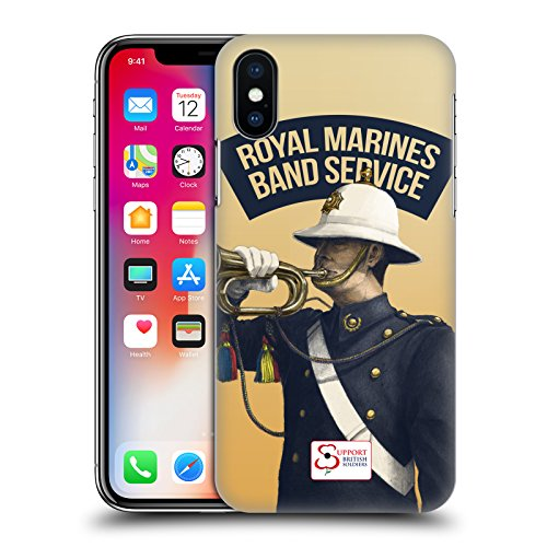 Official Support British Soldiers Marine Soldiers British Troops Hard Back Case for Apple iPhone X Marine Band