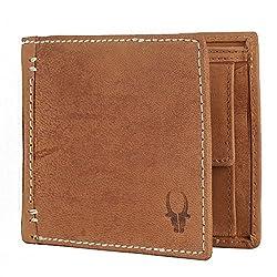 WildHorn Tan Genuine Mens Leather Wallet
