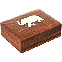 Indian Elephant Jewelry Holder - 11 x 8 x 3 cm - Jewelry Boxes for Necklaces - Animal Lover Gifts