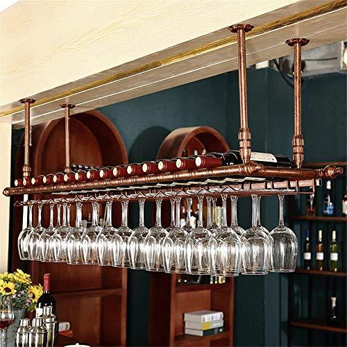 Weinregal Schmiedeeisen House Cantilever Beam hängen Rack Becherhalter Lagerung Regal Länge verlängert und verkürzt für Zuhause, Weinkeller, Bar, Weinschau ( Color : Bronze , Size : 100*30cm )