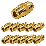 Faconet®® Sat Koax F-Stecker-Verbinder F-Doppelbuchse, F-Buchse auf F-Buchse, Vergoldet (10 Stück)