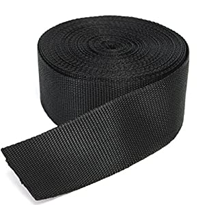 51LRcTbxVtL. SS300  - RETON 50 Yards Black Nylon Heavy Polypro Webbing Strap (50mm)