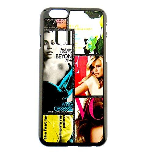 Faux Leder Magazin (Fashion Niedliche Magazine Print Haptik Kunstleder Multi Color iPhone 6Schutzhülle Case für Perfect Cover und Präzision Passen)