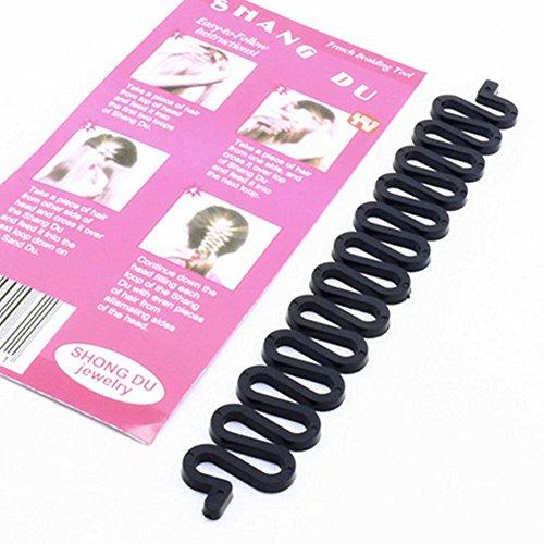 akooya Fashion Korean flechtwerkzeug Roller mit Magic Hair Twist Styling Bun Maker