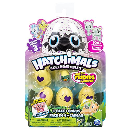 Spin Master 6041341 – Hatchimals – CollEGGtibles 4er Pack und Bonus Season 3