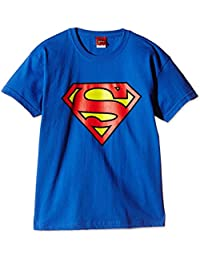 DC Comics Boy's Superman Logo Short Sleeve T-Shirt