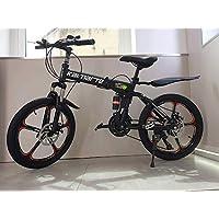 """20 """" Acciaio Al Carbonio Pieghevole Mountain Bike 21 Velocità TX30 Marce Croce Battaglia Comand G6 Doppio Freno a Disco 20 Pollici"""