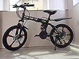 20 ' Acciaio Al Carbonio Pieghevole Mountain Bike 21 Velocità TX30 Marce Croce Battaglia Comand G6 Doppio Freno a Disco 20 Pollici