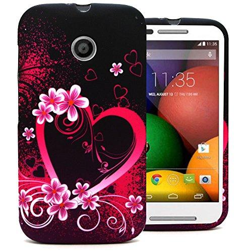 Accessory Master Etui aus PU-Leder für Nokia N503, iPhone 5c, Moto E, Galaxy S5, Nokia 630 Sony Xperia Z1 mini / Z1 Compact Moto E Violett Herz
