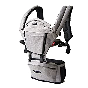 MiaMily HIPSTER+ Child & Baby Carrier, Perfect 360 Backpack Alternative for Hiking with 9 Carrying Positions and Ergonomic Design with Hip Protection for Toddler or Infant (Stone Grey)   6
