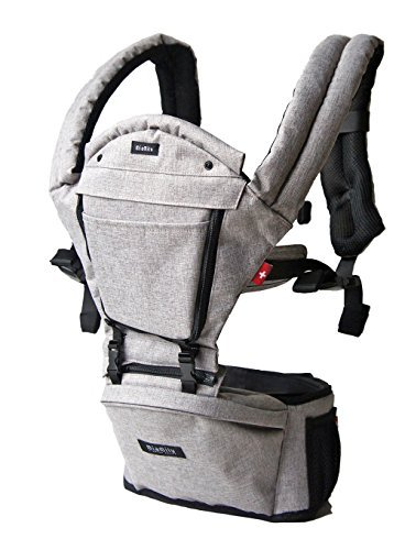 MiaMily HipsterTM Plus 3D Child & Baby Carrier - Perfect 360 Backpack Alternative for Hiking with 9 Carrying Positions and Ergonomic Design with Hip Protection for Toddler or Infant (Stone Grey)