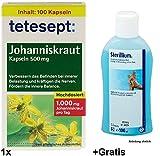 1x 100 Kapseln tetesept Johanniskraut +100ml Hand Desinfektionsmittel