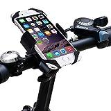 Fahrrad Handyhalterung,Acelive 360-Grad-Drehung Handyhalter Fahrrad Verstellbar Motorradhalter Halterung mit Metall Sockel für GPS iPhone 7 7 Plus 6s 6s Plus 6 6 Plus SE 5s 5 und smartphone - 2