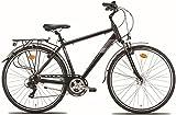28 Zoll Herren City Fahrrad Montana Bluecity 21 Gang, Farbe:Schwarz, Rahmengröße:54cm