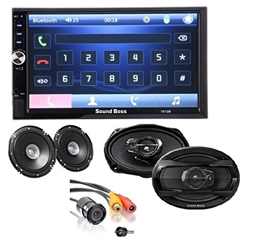 "soundboss combo of 2din bluetooth car video player 7'' hd touch screen stereo radio fm/mp3/mp4/mp5/audio/usb/tf/aux/rear view camera connectivity +, 6""x9""inch 3way performance auditor 480w max coaxial car speaker, + 6inch pair of coaxial 250w max car speaker + night vision rear view camera SoundBoss COMBO OF 2Din Bluetooth Car Video Player 7"" HD Touch Screen Stereo Radio FM/MP3/MP4/MP5/Audio/USB/TF/AUX/REAR VIEW CAMERA Connectivity +, 6″X9″inch 3Way Performance Auditor 480W MAX Coaxial Car Speaker, + 6inch Pair of Coaxial 250W MAX Car Speaker + NIGHT VISION REAR VIEW CAMERA 51LRdwpQXGL"