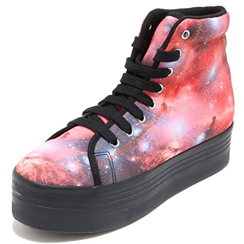 78156 sneaker JEFFREY CAMPBELL HOMG POLYESTER PRINT scarpa donna shoes women Nero/Rosa