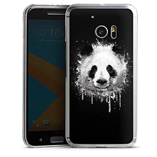 HTC 10 Hülle Schutz Hard Case Cover Panda Bär Grafitti