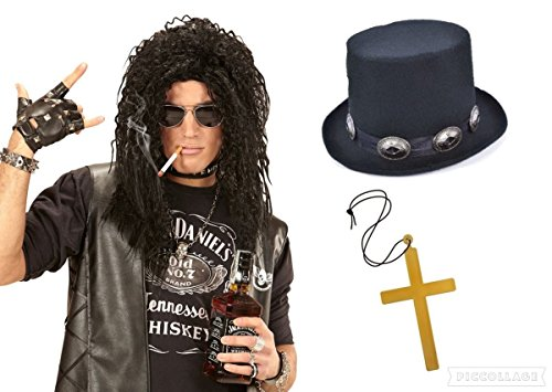 see-me-in-that Rock Star Slash Guns N Roses Perücke Top Hat Fancy Kleid Icon Music Rocker