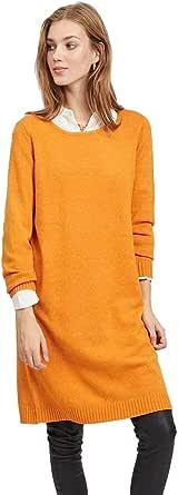 Vila NOS Viril L/S Knit Dress-Noos Vestito Donna