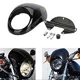 Scheinwerferblende Frontverkleidung Lampenmaske Verkleidung Abdeckung für Harley Sportster Dyna FX / XL 1200 883