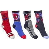 Marvel 4er Set Spiderman Kinder Socken Strümpfe für Jungen Gr.27-34 (31-34)