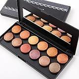 La gamma di colori dell'ombra di occhio cosmetica della gamma di colori dell'ombretto ha colorato i colori 12 con lo specchio , orange red