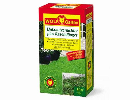 WOLF-Garten Unkrautvernichter plus Rasendünger LQ 50 für 50 qm
