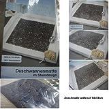 Duscheinlage-Duschwannenmatte-Sicherheitseinlage-'Steinoptik'quadratisch...