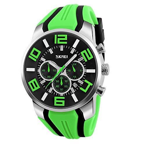 LYZwb Sechs-Nadel-Sportuhr Für Herren Mit Individueller Quarzkernuhr Grün Armbanduhren